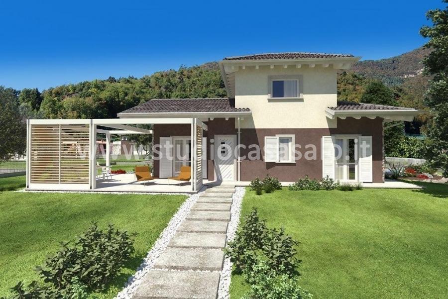 Villa singola con giardino studio casa sal for Casa artigiana piani 3 box auto